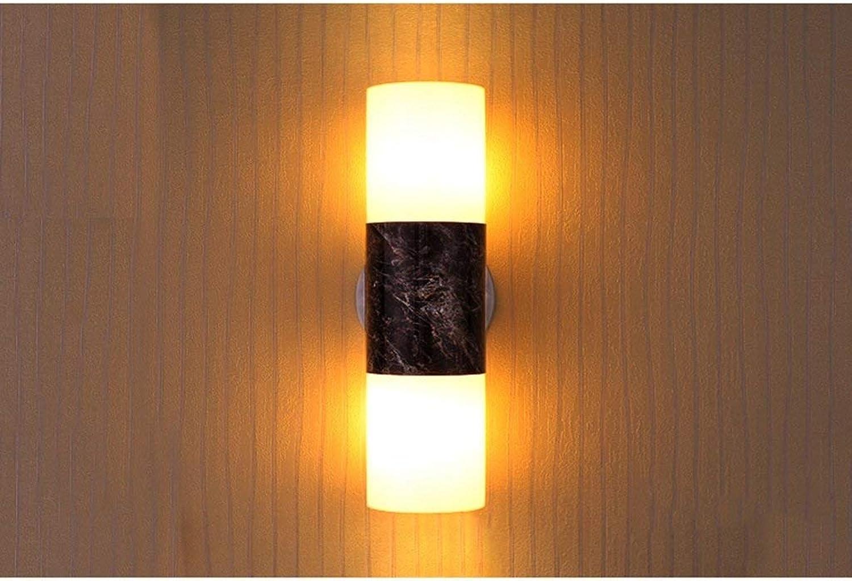 Xiao Yun    Moderne einfache Pastorale led Wandleuchten Schlafzimmer Nacht Wohnzimmer Flur Studie Hotel nachttischlampe (Farbe  doppelkopf)