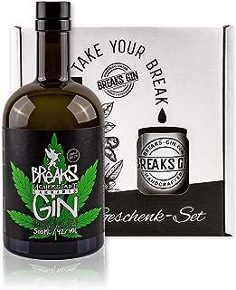 Breaks Cannabis Gin - Geschenk Set mit Tasse  1 x 0,5 L Handmade Gin - Kräuternote - Small Batch