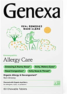 Genexa Allergy Care – 60 Tablets | Certified Organic & Non-GMO, Physician Formulated, Homeopathic | Multi-Symptom Allergy ...