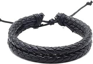 Handmade Vintage Wrap Rope Weave Female Femme Homme Male Men PU Leather Bracelet for Women Jewelry