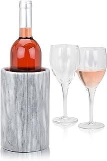 Modern Innovations Elegant Grey Marble Wine Cooler & Champagne Chiller - Kitchen Utensil Holder, Tool Storage Organiser an...