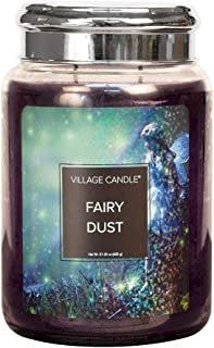 Village Candle Fairy Dust 26 oz Glass Jar Scented Candle, Large