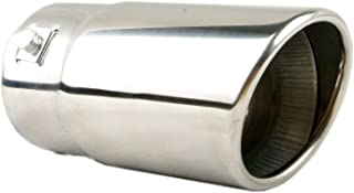 Exhaust tip - to Fit 1.25 to 2.5 Inch Exhaust Tail Pipe Diameter- Stainless Steel to give Chrome Effect - Car Muffler Tips