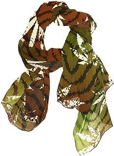 MASSIKOA Women's Scarves Rastafarian Grunge Hemp Leaves Shawl Wraps Silk Scarf