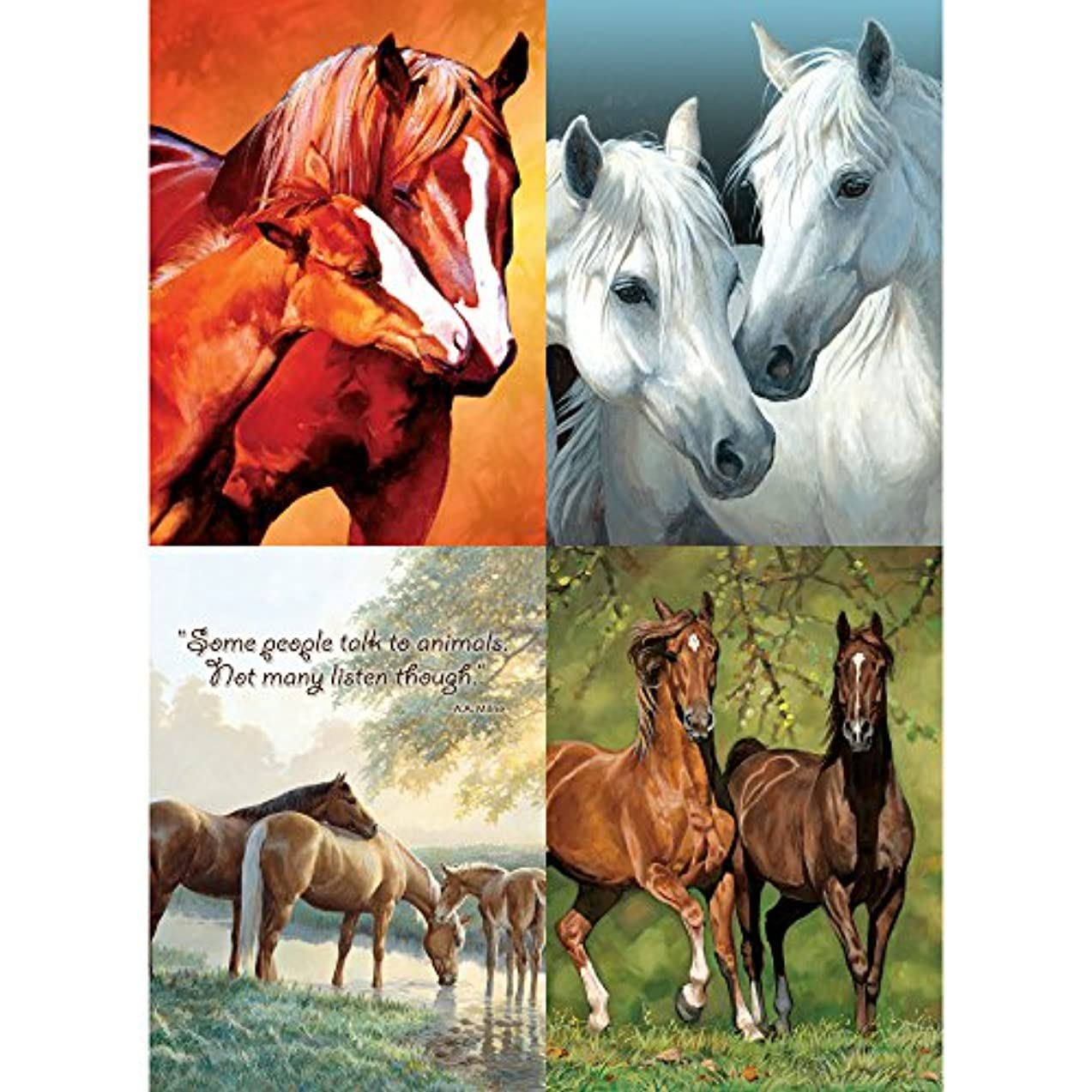 Tree-Free Greetings Stable Mates All Occasion Card Assortment, 5 x 7 Inches, 8 Cards and Envelopes per Set (GA31619)