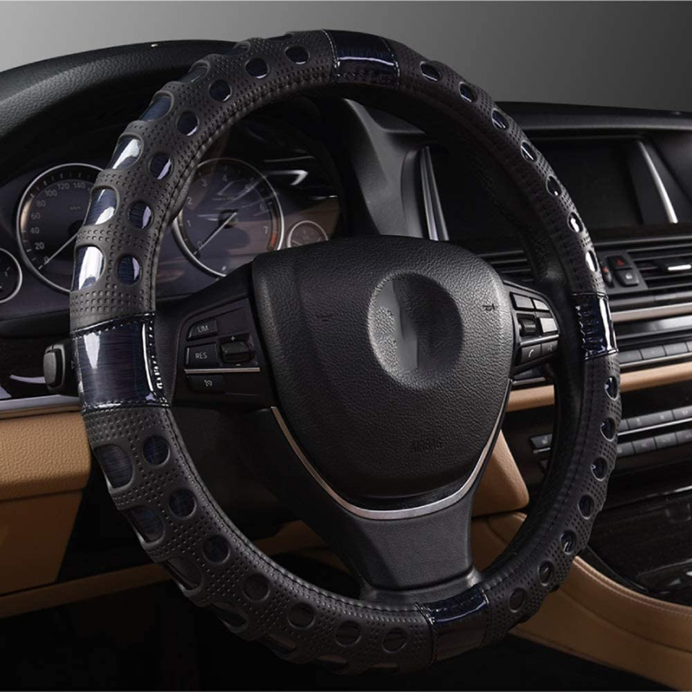 Eummit Steering Max 62% OFF Wheel Cover shipfree Colorful Wire Leather Black Drawing