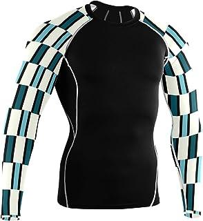 DEZIRO - Camisas de manga larga, diseño de pilares azules