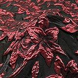 Delicada tela de damasco de lirio 3D con brocado de flores de jacquard con base de color negro, para vestido de fiesta de graduación, 63 pulgadas de ancho