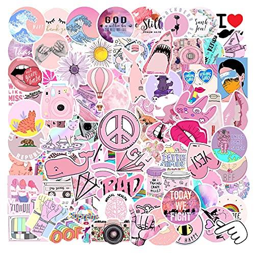 JINER Adolescente Rosa Graffiti Pegatina monopatín refrigerador Cuaderno Cuenta de Mano Taza de Agua Pegatina para teléfono móvil Impermeable 103 Hojas