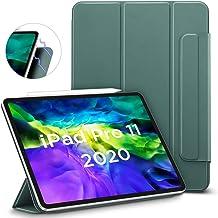 ESR iPad Pro 11 ケース 2020 磁気吸着 [第二世代 Pencilのペアリング & 充電に対応] オートスリープ/ウェイク スリム 軽量 シルク手触り 高級感 三つ折りスタンド リバウンドマグネティックスマートケース(グリーン)