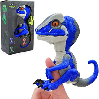 Snader-Untamed T-Rex - Ironjaw (Blue) - Interactive Collectible Dinosaur fingerlings for Boys (Blue)