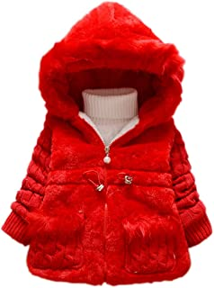 6714a773c DADA Deal Toddler Kids Infant Baby Girl Knitted Sleeves Winter Warm Coat  Jacket Snowsuit