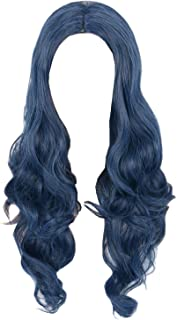 Womens Hair Wig Blue Curly Long Cosplay Halloween Costume Wigs