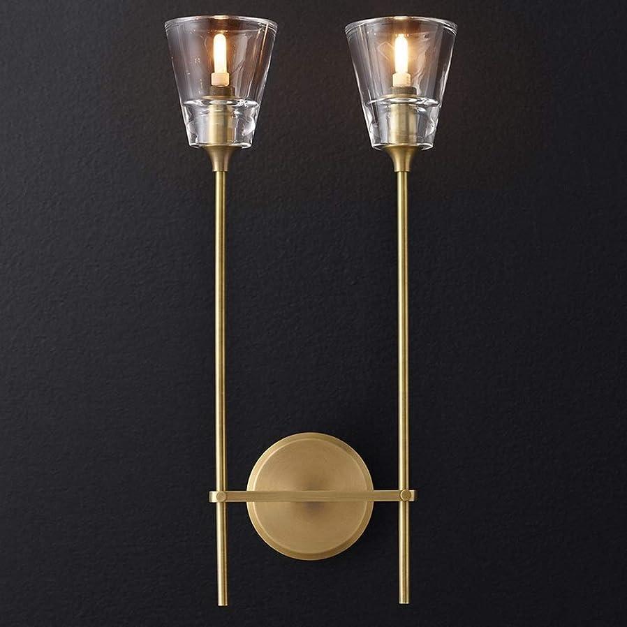孤独な考えた並外れてホール すべての銅光近代的な高級デザイナーズホテルで、部屋の寝室研究枕元クリスタルスタッド壁ランプを生きて飾られた後、20 * 60 * 13CM インテリアデコレーション