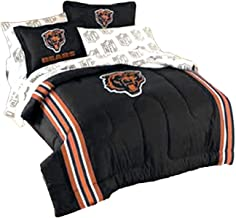 3pc NFL Chicago Bears Twin-Full Comforter Set Football Team Logo Comforter and Pillow Shams