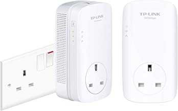 Best TP-LINK (TL-PA9020P KIT) AV2000 GB Powerline Adapter Kit, AC Pass Through, 2 Ports Review