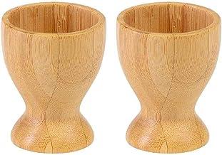 Westmark 2 Eierbecher, mit Fuß, ø 4,7 cm, Bambus, Tapas +