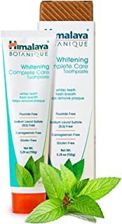 Himalaya Botanique Complete Care Whitening Toothpaste, Simply Mint, for a Clean Mouth, Whiter Teeth and Fresh Breath, 5.29 oz
