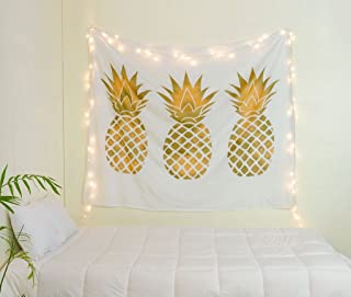 gold pineapple tapestry