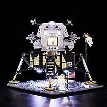 Vonado LED Light Kit for Lego 10266 NASA Apollo 11 Lunar Lander Lighting Set Building Blocks Toys Christmas Halloween Festival Gift(Only Light+Battery Box)