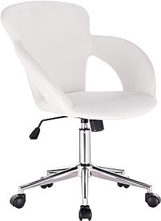 comprar comparacion WOLTU Silla de Oficina Silla de Escritorio para Trabajo con Ruedas,Giratoria de Oficina Blanco BS18ws