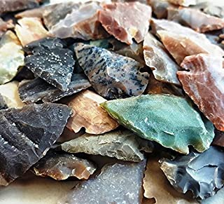 Arrowhead Lot, 110 pcs Indian Agate Stone Arrowhead Set by Ashkii