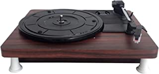$218 » DSWHM Exquisite and Elegant Vinyl Record Player,Belt-Driven Turntable with 3-Speed, Built-in Speaker,Aux in and RCA Outpu...