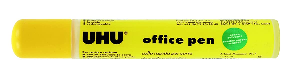 UHU 35?KLEBEPEN Office, No solvents, Refillable, 35?g