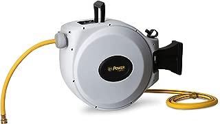 "Power Retractable Hose Reel 5/8"" x 50 + 6 ft, Super Heavy Duty, 500 PSI Burst Strength, 3 Layer Hybrid Hose (Standard)"