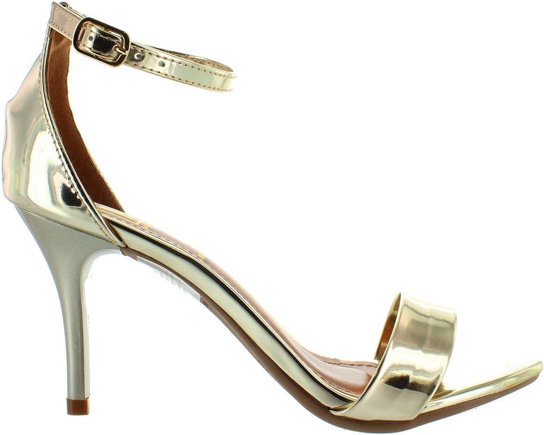 Maker's Regi 1 - gold Stiletto Sandal