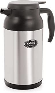 Cello Armour Stainless Steel Flask 67 Ounce Black