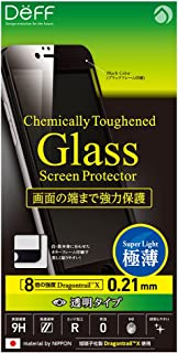 Deff x Asahi Dragontrail High Grade LCD Glass Screen Protector for iPhone 6s Plus / 6 Plus (Full Front / 0.21mm / Black)