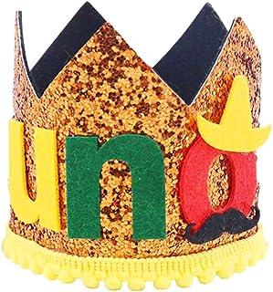 PRETYZOOM パーティークラウンハットベビークラウンティアラヘッドバンド最初の誕生日帽子宴会ダンスパーティー