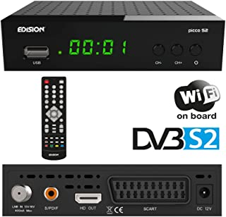 Edision Picco S2- Receptor de satélite Full HD, WiFi