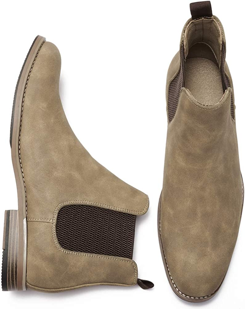 COOL COSER C Mens Casual Chelsea Slip on Ankle Boots