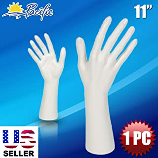 white hand display
