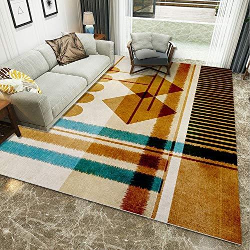 WDSZY Nordic Style Rectangle Carpet, Living Room Bedroom Sofa Polyester Area Rugs, Anti-Slip Coffee Table Study Floor Mat 160X230Cm