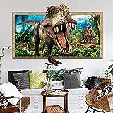 Wdzbb 3D Dinosaurier Aufkleber Schlafzimmer Wohnzimmer Abnehmbare Dekorative Wandaufkleber Wandbilder Dekorative Aufkleber 60 * 90 cm -