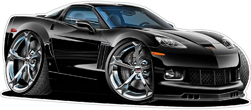 2010 2012 Corvette WALL DECAL Vintage 3D Cartoon Car Movable Stickers Vinyl Wall Stickers For Kids Room