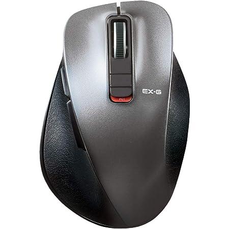 エレコム マウス Bluetooth Mサイズ 5ボタン(戻る・進むボタン搭載) BlueLED 握りの極み ガンメタリック M-XGM10BBBK/EC