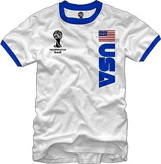 FIFA 2014 World Cup Ringer Jersey USA T-Shirt
