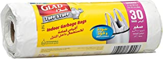 Glad Tuff Stuff Garbage Small White Handle Bags , 20 L
