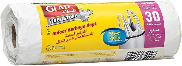 Glad Tuff Stuff Garbage Small White Handle Bags , 20 L