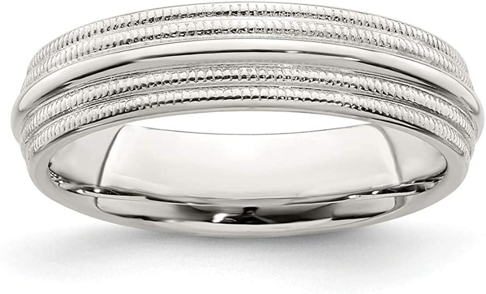 925 Sterling Silver 5mm Comfort Fit Outstanding Double Size Weddi ! Super beauty product restock quality top! 4 Milgrain