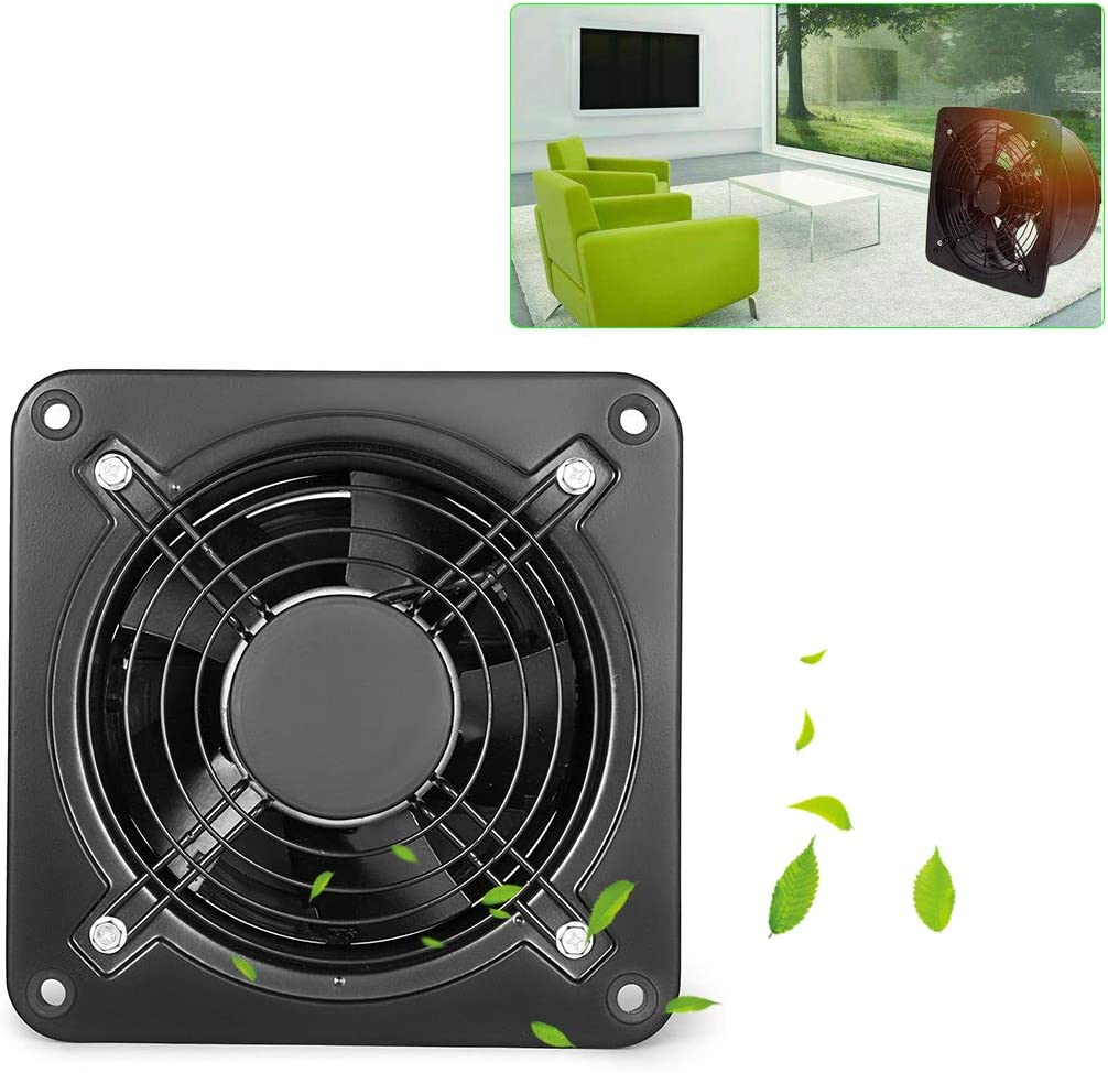 Extractor de ventilación industrial Extractor axial de metal Ventilador comercial Ventilador Extractor de bajo ruido para talleres Garaje Hogar Cocina Baño