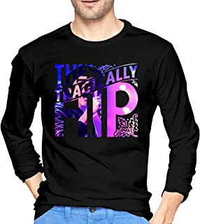 Mens T-Shirts Graphic with The Tragically Hip Comfortable Long Sleeve T-Shirt
