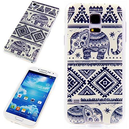 Handy Lux® Schutz Hülle Etui Silikon TPU Hülle Cover Design Motiv für Samsung Galaxy S3 / S3 NEO - Hindi Elefant