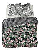 DORAN SOU Outlet SAHONDRA - Parure de lit pour 2 Personnes : Housse de Couette 240x240 cm + Taies...