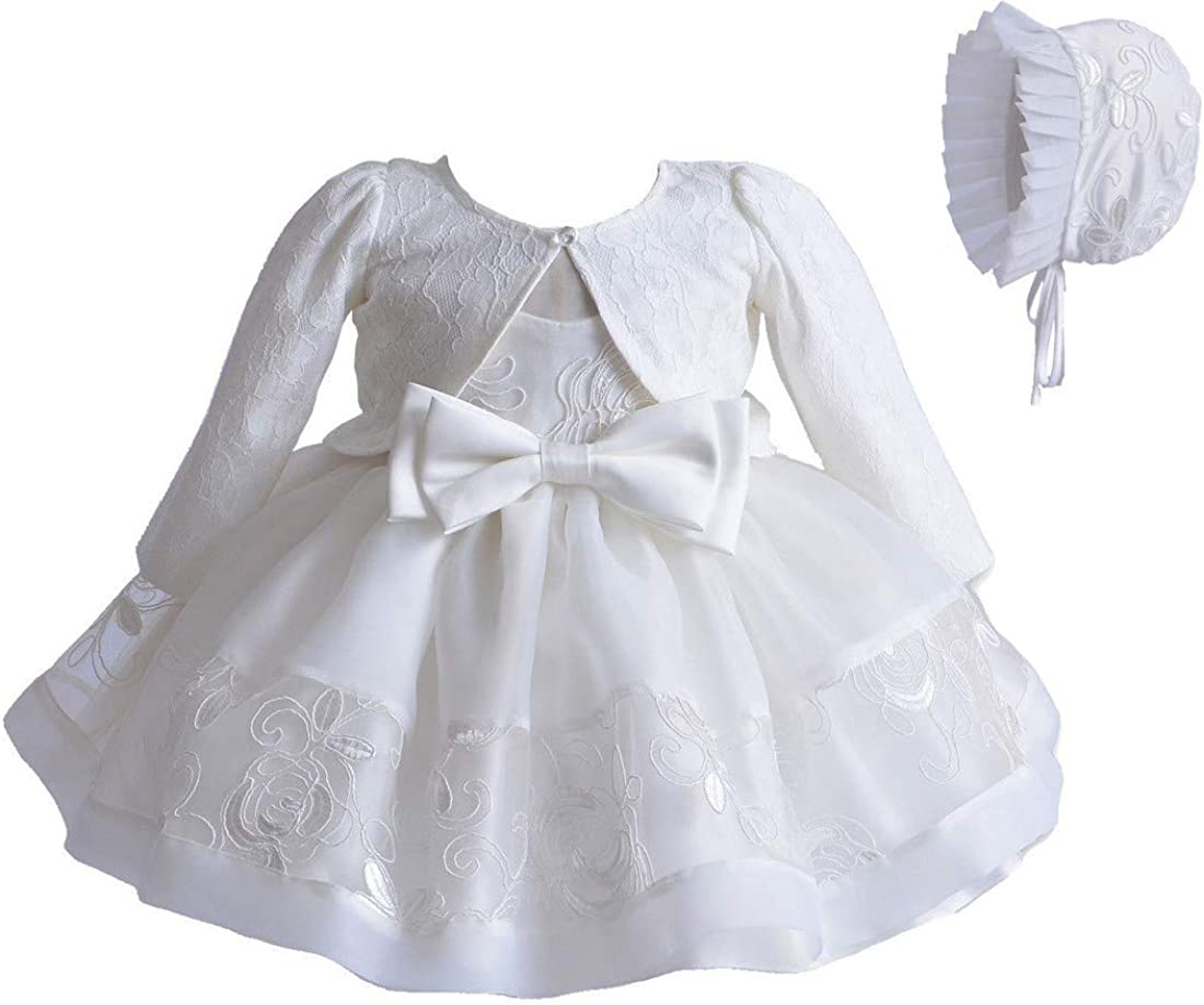 Baby Girl White Cardigan,Lace Sweater,Wedding Christening sweater,Flower Girl