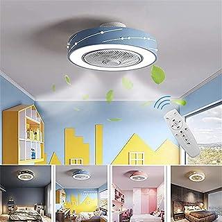Ventilador de techo con iluminación ajustable Velocidad del viento ligero, control remoto 36W moderna lámpara de techo acrílico diseño de metal regulable luz de techo LED para vivir dormitorio Comedor